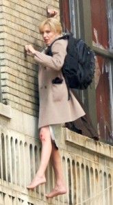 Jolie Shoots Scene in Movie Salt