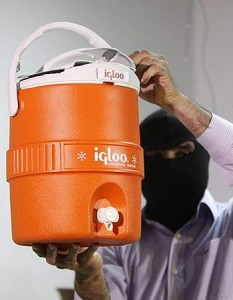 Igloo water cooler spy gadget
