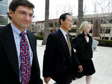 Greg Chung leaving court on Tuesday