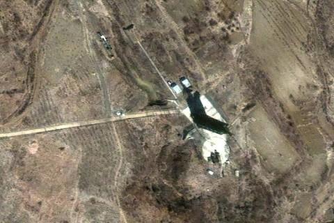 Satellite image of Musudan-ri missile site