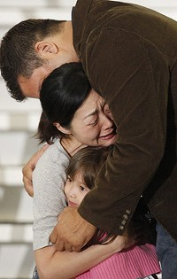 Euna Lee reunited with her family
