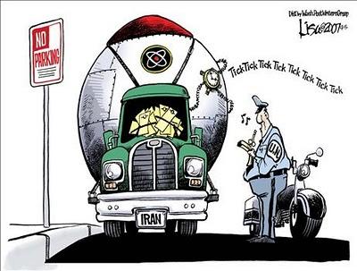 Iran Ticking Bomb Cartoon